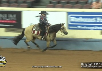 Congratulations to NRHA Derby 2017 Non Pro Champions Mandy McCutcheon and Hollywood Starburst