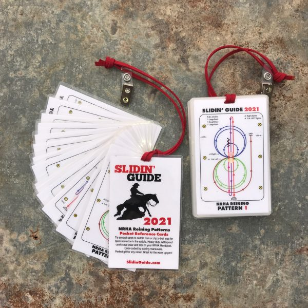 NRHA Reining Patterns 2021 SlidinGuide Cards