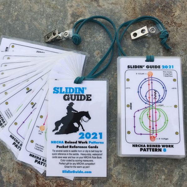 NRCHA Reining Patterns 2021 SlidinGuide Cards