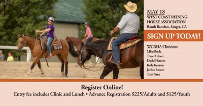 NRHA reining bootcamp may 2019 sanger ca